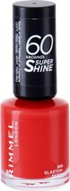 Rimmel London 60 seconds supershine nagellak Glaston-Berry Fuscia