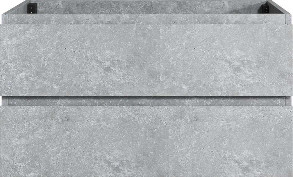 Badplaats - Wastafelkast Angela 90cm - Grijs - zonder wastafel
