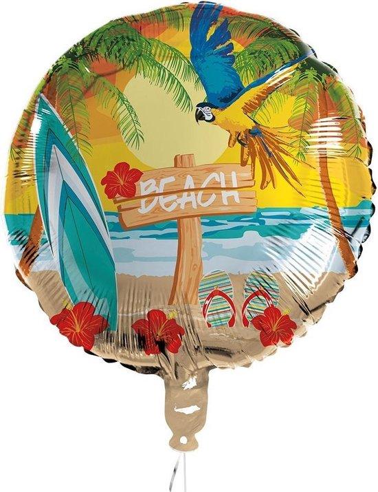 Boland Folieballon Beach 45 Cm Geel/beige