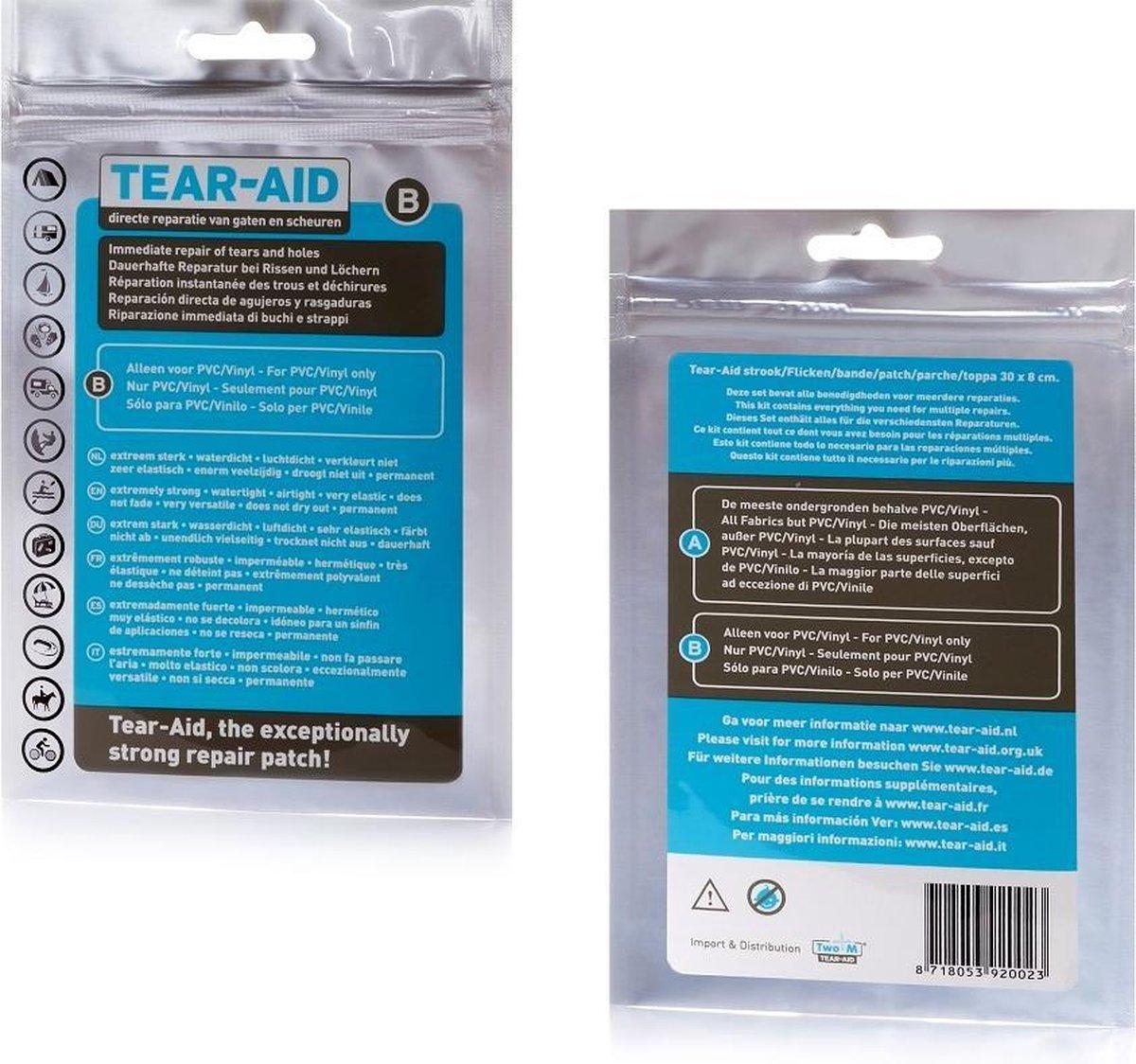 Tear-Aid - Reparatiemiddel - Type B - standaard set