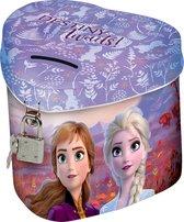 Disney Frozen spaarpot met slotje - 11 x 10 x 8.5 cm