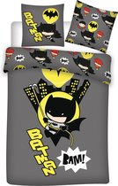 Batman Dekbedovertrek BAM! - Eenpersoons - 140 x 200 cm - Polyester