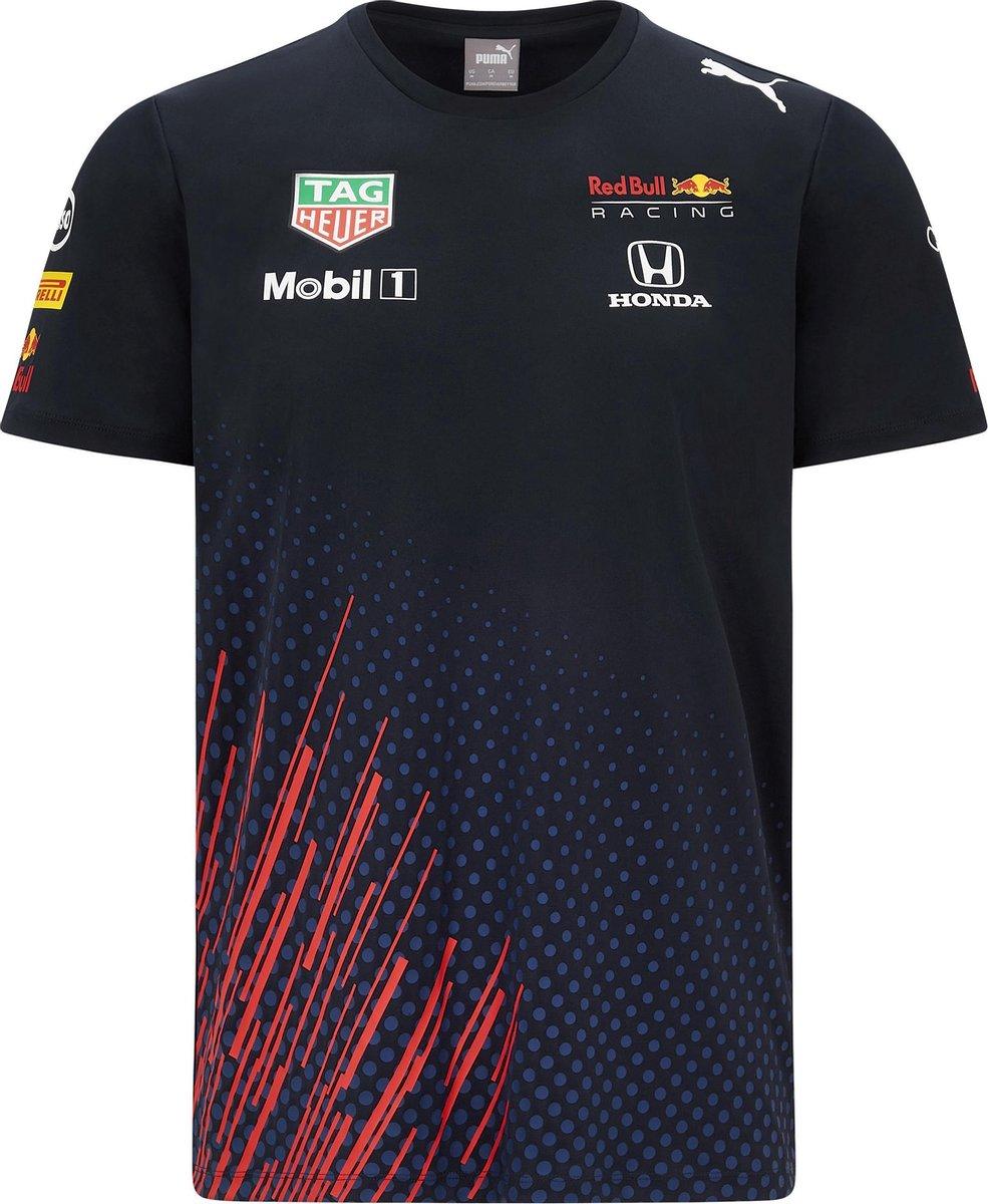 Max Verstappen Red Bull Racing Teamline T-shirt 2021 Maat M - Formule 1 - Circuit Zandvoort -