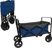 Outdoor Bolderwagen Blauw/grijs