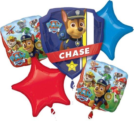 Paw Patrol Helium Ballon Set Chase 5 delig leeg