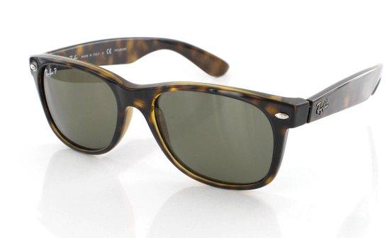 Ray-Ban RB2132 902 - New Wayfarer (Classic) - zonnebril - Tortoise / Groen Klassiek G-15 - 52mm