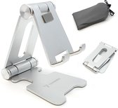 Trendfield Telefoonstandaard - Telefoonhouder Bureau - Opvouwbaar/Inklapbaar - Telefoon Houder voor Tafel - Zilver