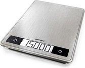 Soehnle digitale keukenweegschaal - 24 x 17,5 cm - Tot 15 kg - RVS