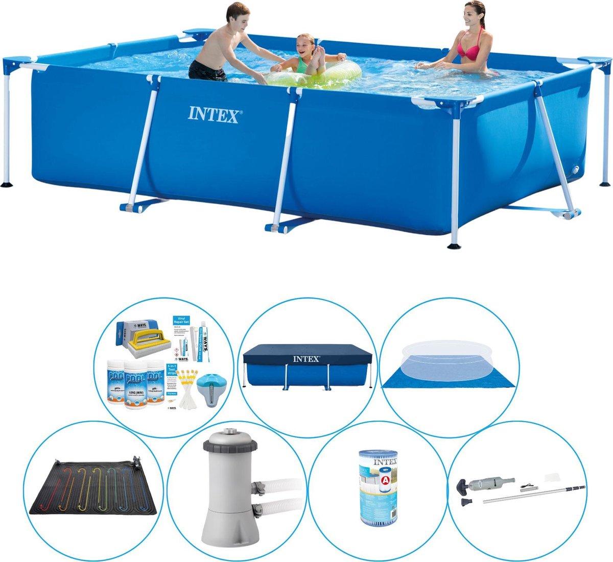 Intex Frame Pool Zwembad - 300 x 200 x 75 cm - Totaal pakket