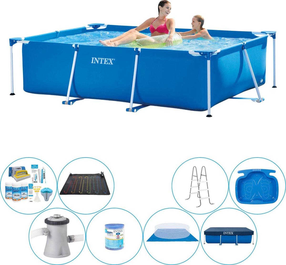 Intex Rechthoekig Zwembad - 220 x 150 x 60 cm - Inclusief alle benodigdheden