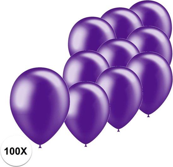 Paarse Ballonnen Metallic 100St Feestversiering Verjaardag Ballon