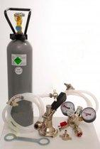Accessoirepakket 2 met Sankey - S korf aansluiting, 10mm! Bierslang, 2,0 kg CO2 voor 1-kraans tapinstallaties
