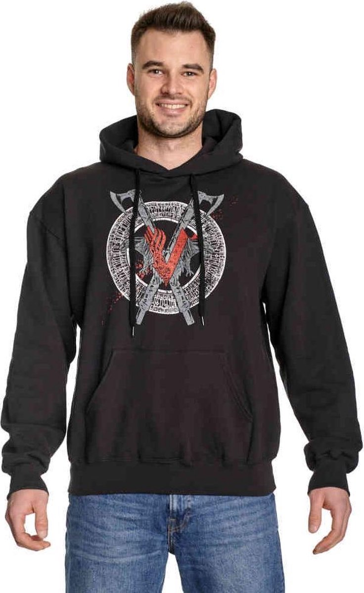 Vikings Hoodie/trui -XXL- Odin Red Zwart