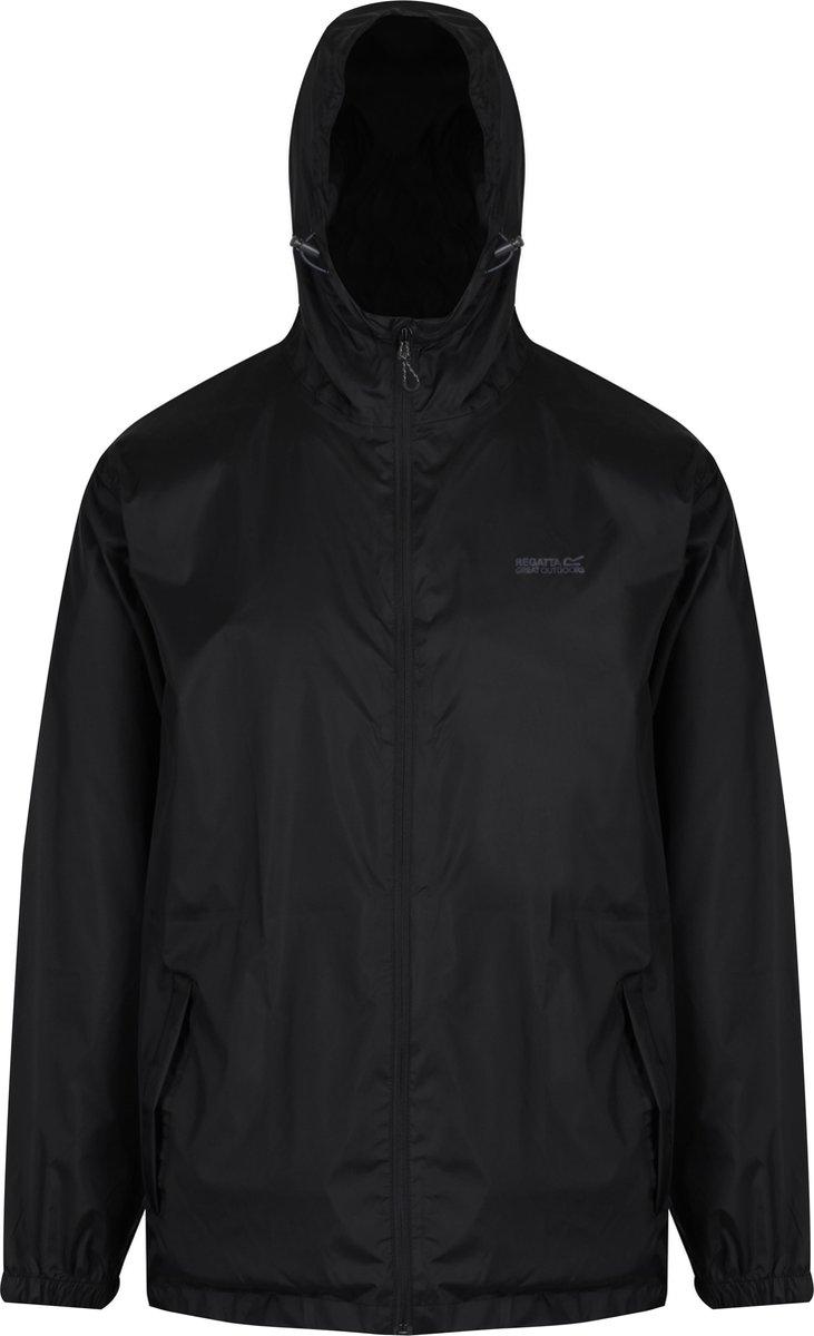 Regatta Pack-It II  Regenjas - Maat M  - Mannen - zwart