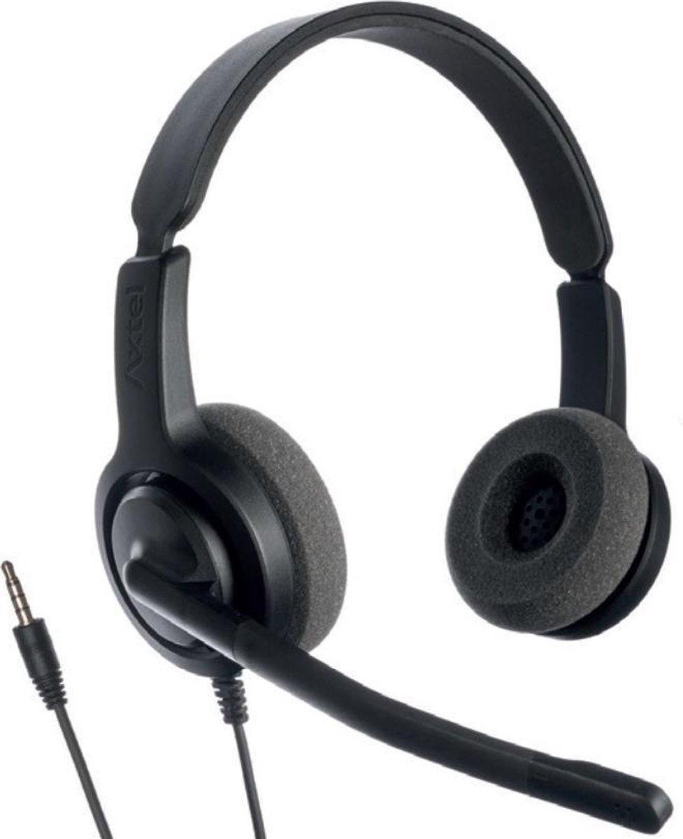 Axtel Voice PC28 duo 3,5mm jack koptelefoon (voor PC/Laptop/Tablet/Telefoon)
