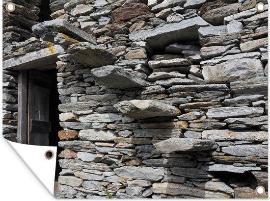 Bol Com Tuinposter Antieke Stenen Muur Antieke Stenen Muur Met Een Trap Tuinposter 160x120