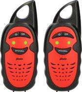 Alecto FR-05RD Walkietalkie voor kinderen - tot 3 km bereik - Eenvoudig in gebruik - Rood