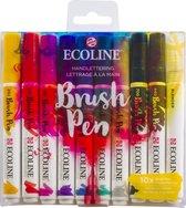 Afbeelding van Talens Ecoline Brush Pen - 10 stuks - Handlettering - Brushpen