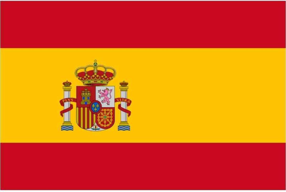 Vlag Spanje 90 x 150 cm feestartikelen - Spanje landen thema supporter/fan decoratie artikelen - Merkloos