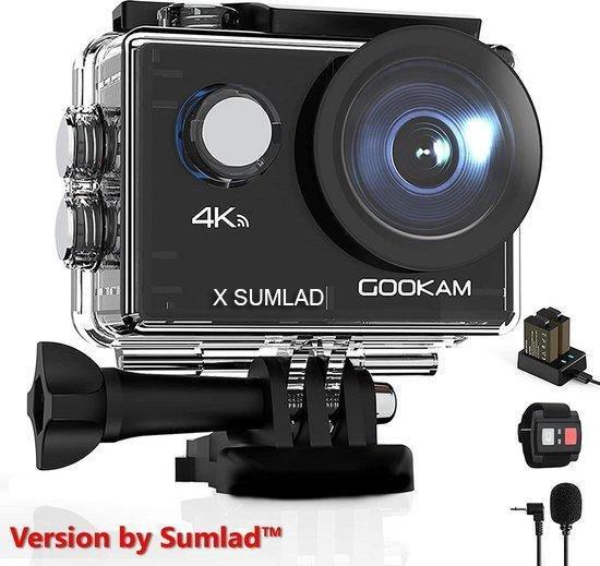 Gookam®️ - GO2 Action Camera 4K met Microfoon - 40 Meter Waterproof -...