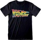 Back To The Future - Logo T-Shirt zwart