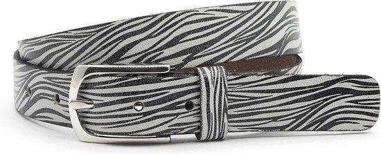 Dames riem zwart/ wit zebra