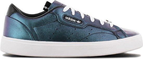 adidas Originals Sleek W – Dames Sneakers Sport Casual Schoenen Petrol Zwart FV3403 – Maat EU 38 2/3 UK 5.5