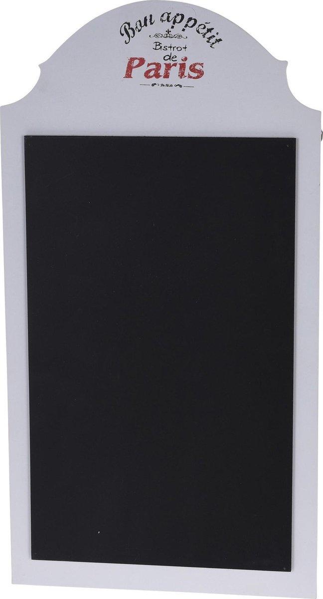 Merkloos / Sans marque 1x Schrijfborden/memoborden wit Bon Appetit 30 x 55 cm Woonaccessoires Huisdecoratie Horeca Memoborden/schrijfborden/krijtborden Menuborden online kopen