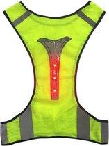 LED Hardloophesje met licht | Sporthesje | Reflecterend sporthesje | Hardlopen | Rennen | Fietsen | Hardloop verlichting | Hond uitlaten verlichting | Wandelen | Sportvest | Verstelbaar | X-vorm