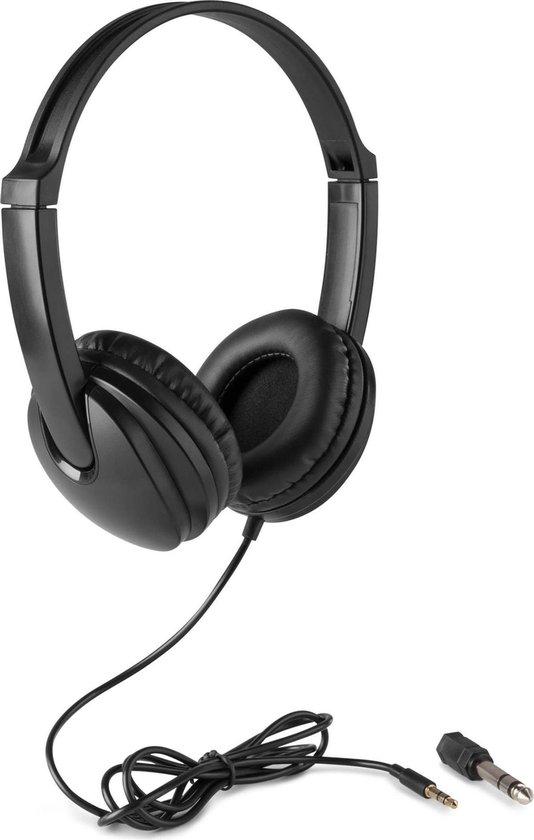 Koptelefoon kinderen en volwassenen - Vonyx VH100 universele hoofdtelefoon voor telefoon, tablet, pc, muziekinstrument, etc. - Zwart