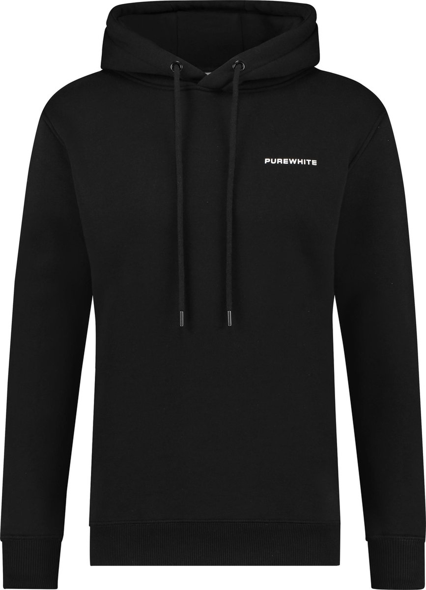 Purewhite Chest Logo Hoodie - Black