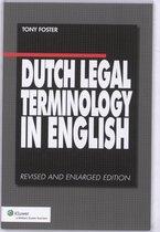 Boek cover Dutch Legal Terminology in English van Tony Foster