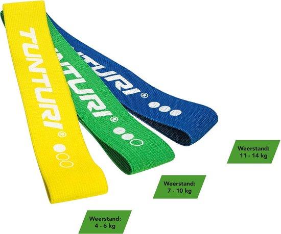 Tunturi Weerstandsband textiel - resistance band - Groen - Medium