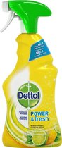 Dettol Power & Fresh - Allesreiniger Spray - Sprankelende Citroen & Limoen - 500 ml