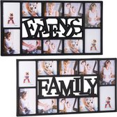 relaxdays 2 x fotolijst - elk 10 foto's - collagelijst – fotocollage - family   friends