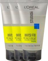 L'Oréal Paris Studio Line Invisi Fix 24H Clear & Clean Gel Strong - 3 x 150 ml - Voordeelverpakking
