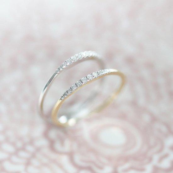 14 Karaat geelgouden ring met diamant (0,06ct) - Lucardi