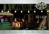 AYD Home Tuin lichtsnoer - Warm Wit - Party lights - 10 meter - 50 LED - Lichtsnoer buiten - Lichtsnoer - Balkon - Party verlichting - Tuinverlichting buiten lichtsnoer - Tuinverlichting - Partyverlichting buiten - Partylights voor buiten