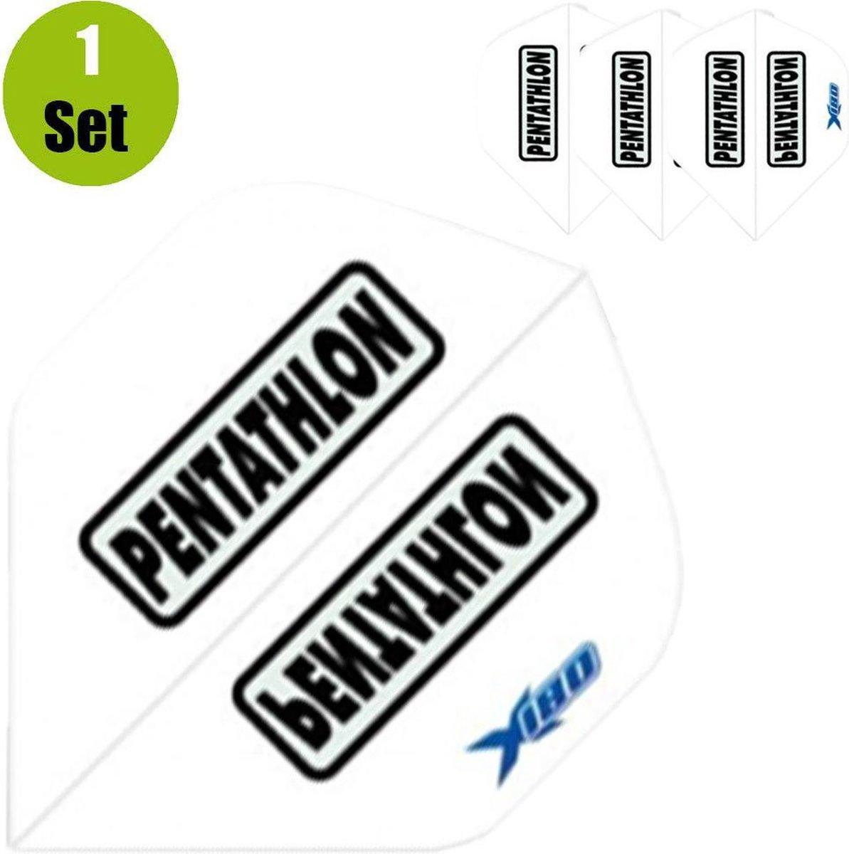 Pentathlon Xtream 180 Dartflights - Wit- ()