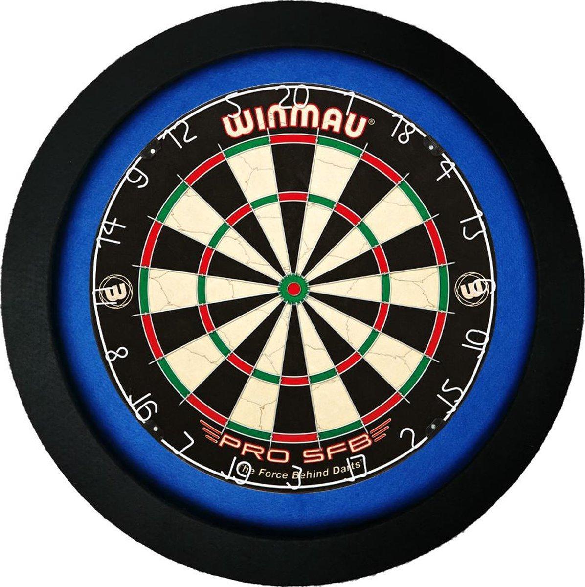 LENA Dartbord Verlichting Super Deluxe (Zwart - Blauw)