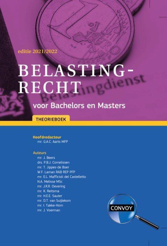 Omslag van Belastingrecht Bachelors Masters 2021-2022 Theorieboek