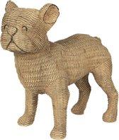 Clayre & Eef | Decoratie hond 31*16*30 cm | Bruin | Polyresin | Hond | 6PR2925
