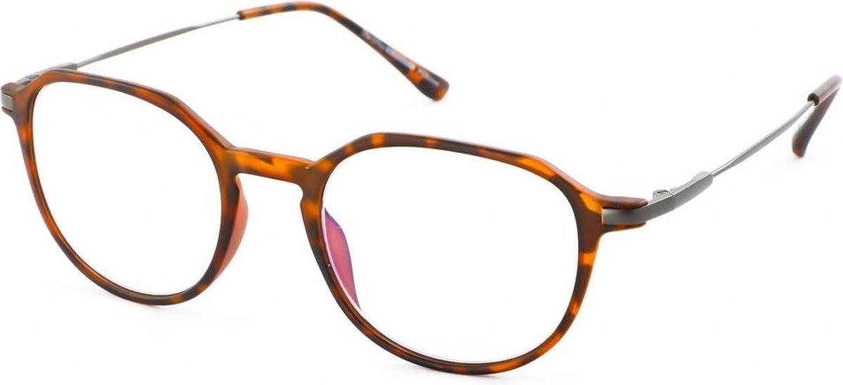 Leesbril Ofar Office Multifocaal CF0004B havanna met blauwlicht filter +1.00 kopen