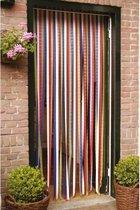 Set van 2x stuks vliegengordijnen/deurgordijnen gekleurde stroken 90 x 210 cm - Insectenwerende vliegengordijnen