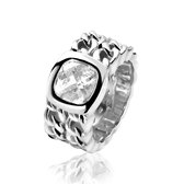 ZINZI zilveren ring gourmet wit ZIR1137Z