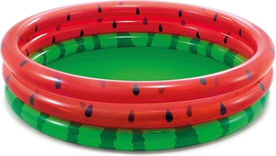 Intex Watermeloen 3 Rings 168cm - Opblaaszwembad