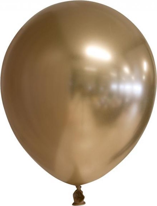 Chrome spiegel ballon goud