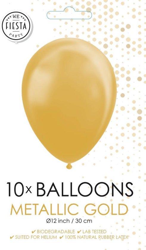 Metallic gouden ballonnen 30cm 10 stuks
