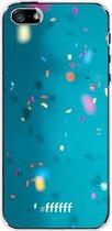 iPhone SE (2020) Hoesje Transparant TPU Case - Confetti #ffffff