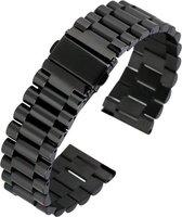 Horlogeband - Metaal Schakel - 20mm - zwart